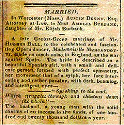 Edward Hughes Ball Hughes - Marriage - press cutting